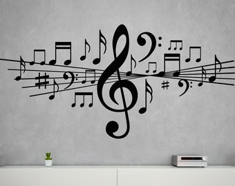 Musical Notes Decal Etsy
