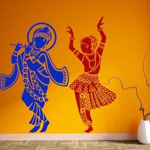 Cute Krishna Hindu God Vinyl Decal