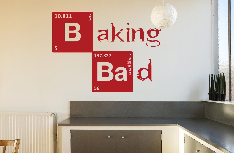Breaking bad bad parete adesivo cucina vinyl decal stencil for Stencil parete cucina