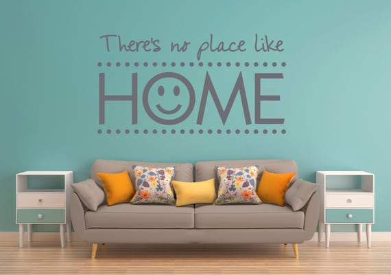 There/'s No Place Like Home Wall Sticker Living Room Vinyl Decal Family Gift