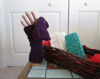 Fingerless Mitts - One size fits most