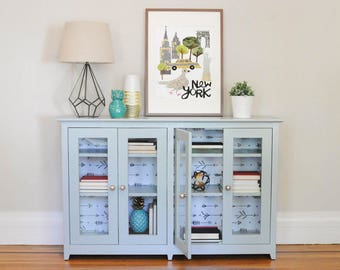 SOLD/NOT AVAILABLE - Hand painted book cabinet