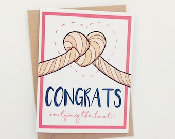 Congratulations Card | Wedding Card | Congrats on tying the knot | Greeting Card