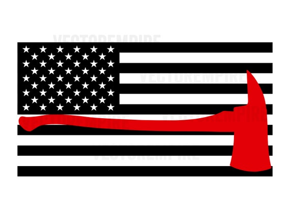 THIN RED LINE FLAG AXE SUPPORT FIREFIGHTER FIRE DEPARTMENT T-SHIRT TEE USA HERO