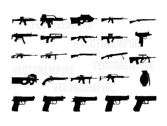 25 gun pack svg gun cricut files gun silhouettes ar 15 etsy 25 gun pack svg gun cricut files gun silhouettes ar 15 vector sniper svg pistol svg shotgun svg rifle svg ak 47 svg gun svg