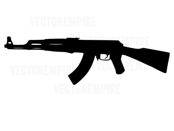 ak 47 svg gun vector ak47 rifle svg gun cricut files etsy etsy