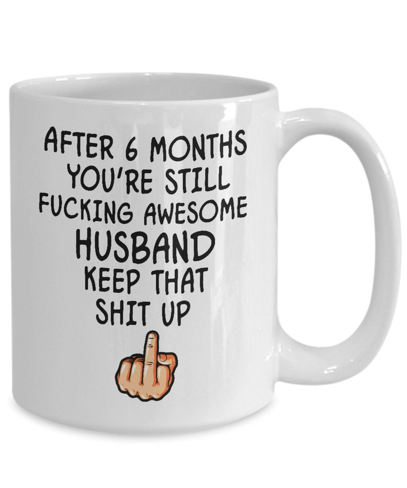 246 & 6 months anniversary gifts for men him husband fiance 6th wedding anniversary funny coffee mugs cup engagement married newlywed valentine...