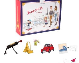 """Kit cadeau français """"Souvenirs de Paris"""""""
