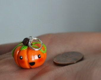 Polymer Clay Happy Pumpkin Charm
