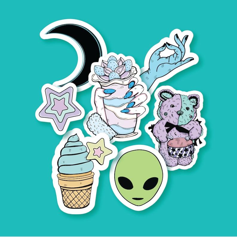 6f592302b200b Alien Stickers Cute Sicker Pack Tumblr Stickers Grunge
