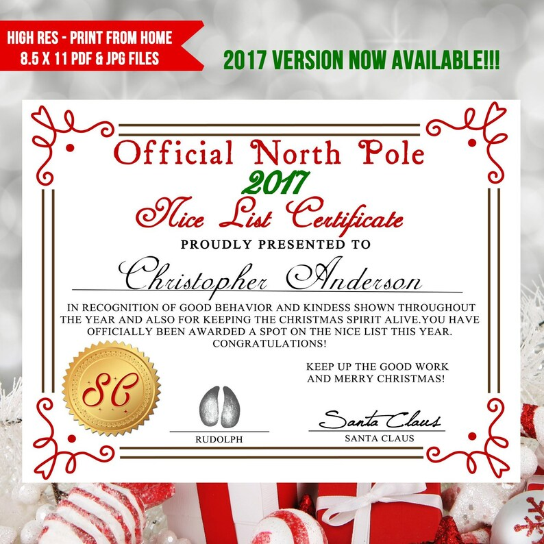 graphic relating to Santa List Printable named Printable Awesome Listing Certification, Santa Letter, Good listing, Xmas Printables, Santa Listing, Santa Certification - Quick Down load - PDF -