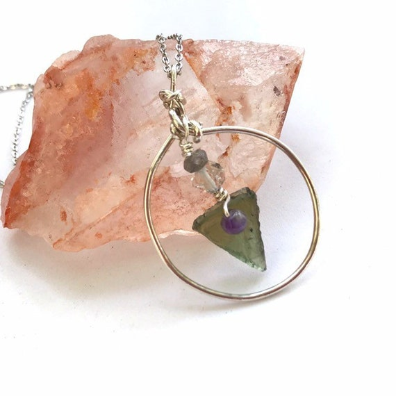 Manifestation /& Healing Power 5//8 Mini Stainless Steel Silver Pendant Necklace