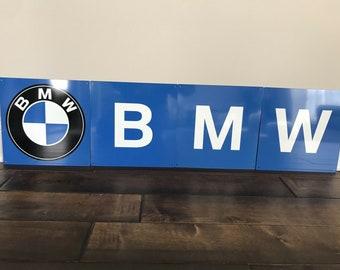 AMG Mercedes Vintage Logo Reproduction Garage Sign