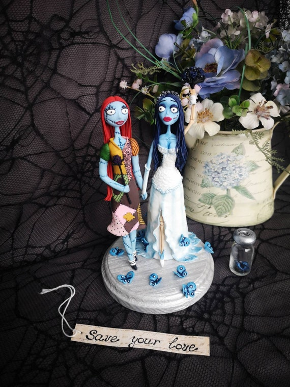 Sally And Emily Lesbian Wedding Cake Topper Corpse Bride Tim Etsy