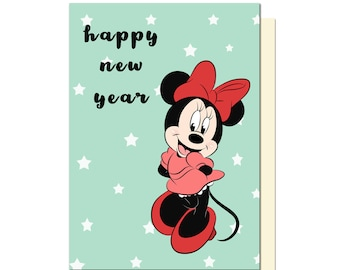 new year cards card print greetings card new year gift disney new year minnie mouse happy new year card happy new year
