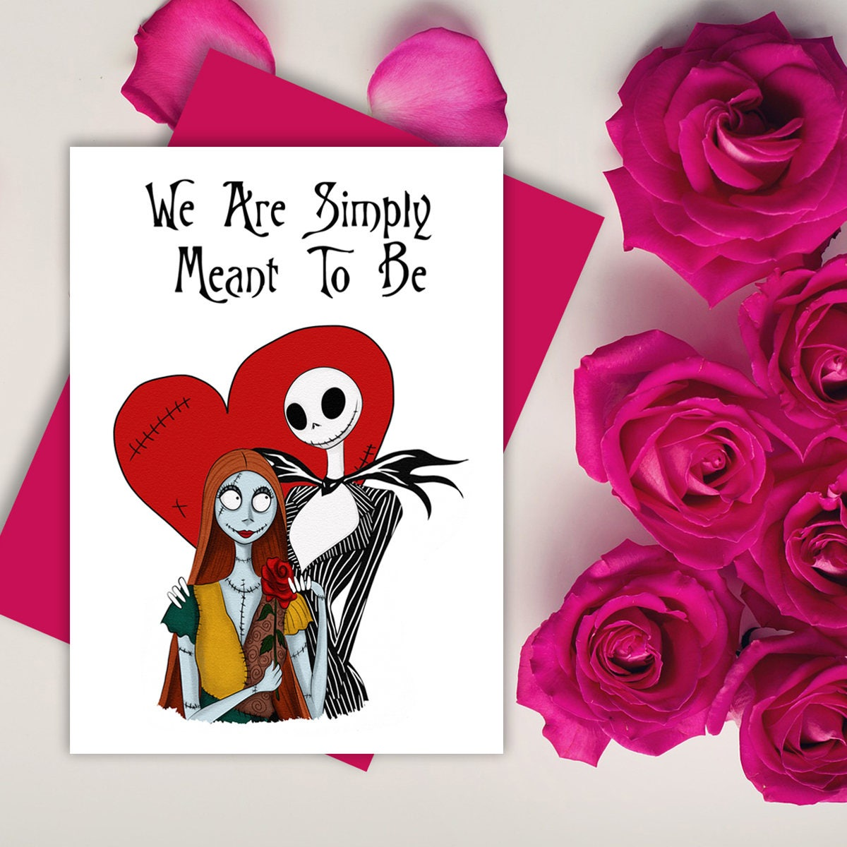 Nightmare Before Christmas digital Jack and Sally Anniversary | Etsy
