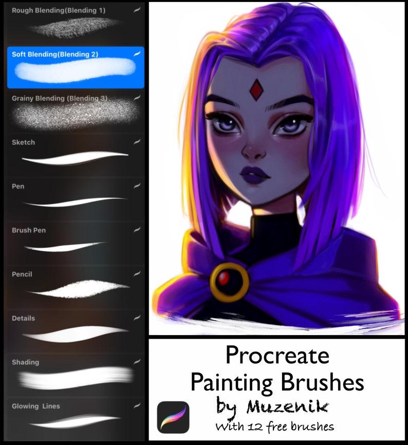 PROCREATE PAINTING BRUSHES/Procreate Blending brushes/Muzenik image 0