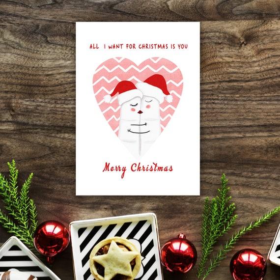 Weihnachtskarte für ihn Weihnachten Geschenk für sie | Etsy