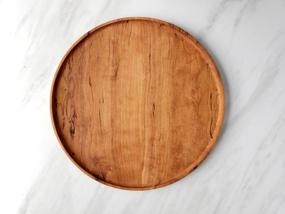 Remarkable Round Wood Tray Cherry Circle Catchall Valet Tray Andrewgaddart Wooden Chair Designs For Living Room Andrewgaddartcom