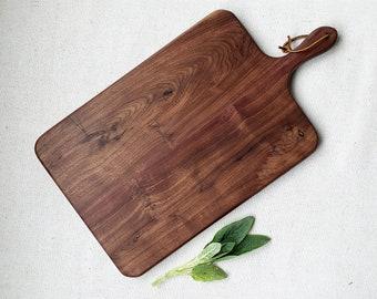 Charcuterie Board / Black Walnut / Paddle Board