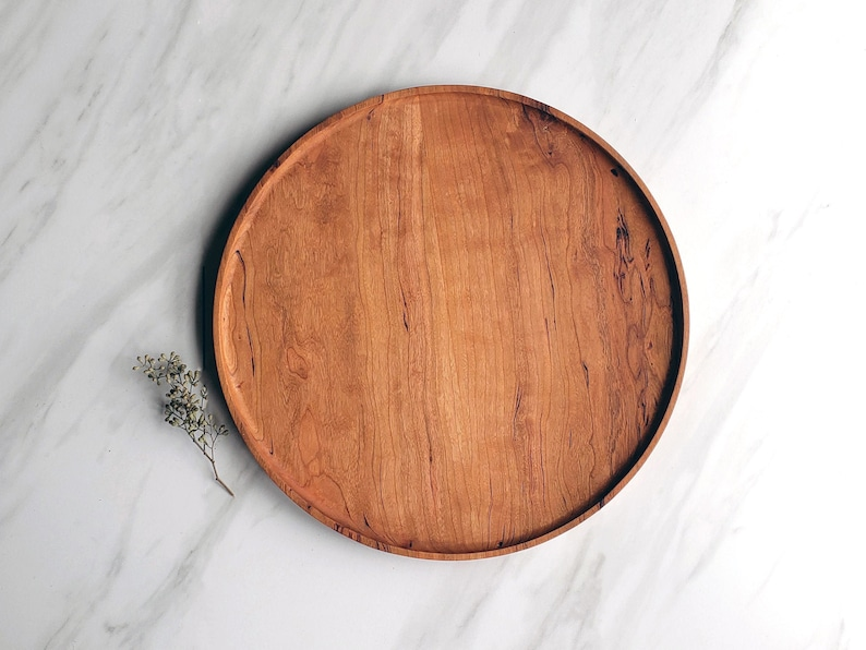 Terrific Round Wood Tray Cherry Circle Catchall Valet Tray Andrewgaddart Wooden Chair Designs For Living Room Andrewgaddartcom