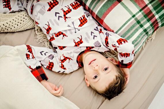 898c919053 Christmas Pajamas Woodland Pajamas Youth Pajamas Toddler