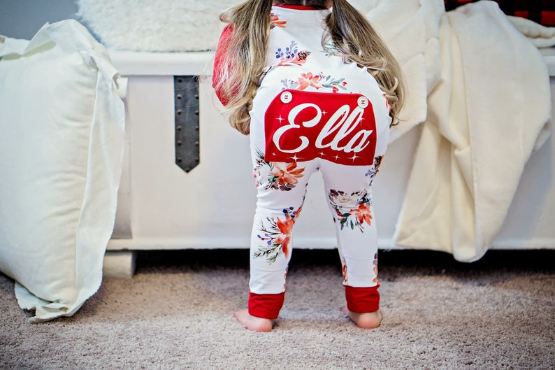 1bb5797d7602 Christmas Pajamas Floral Pajamas Christmas Long Johns Bum