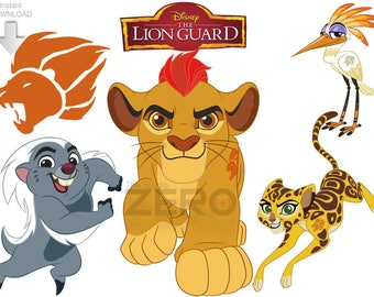 Disney Junior Lion Guard, 11 PNG, 11 JPG, 11 Mirror Images, Instant  Download   72 300DPI, Printable Iron On Transfer, Lion Guard Clipart