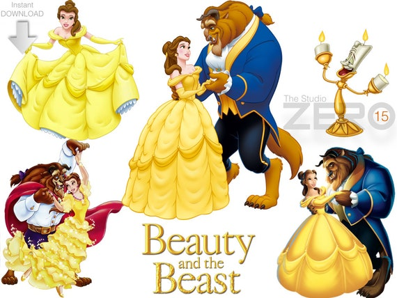15 disney beauty and the beast clipart 15 png 15 jpeg 15 etsy rh etsy com beauty and the beast clipart free beauty and the beast clipart free