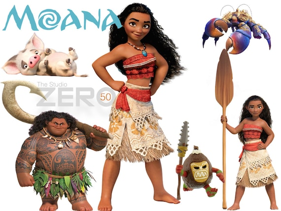 50 Disney Moana Clipart, 72-300DPI PNG Images, Instant Download, Printable  Iron On Transfer or Use as Clip Art - DIY Disney, Moana Clipart
