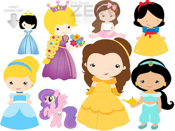 75 Baby Princesses & Prince Clipart 300DPI PNG Images | Etsy