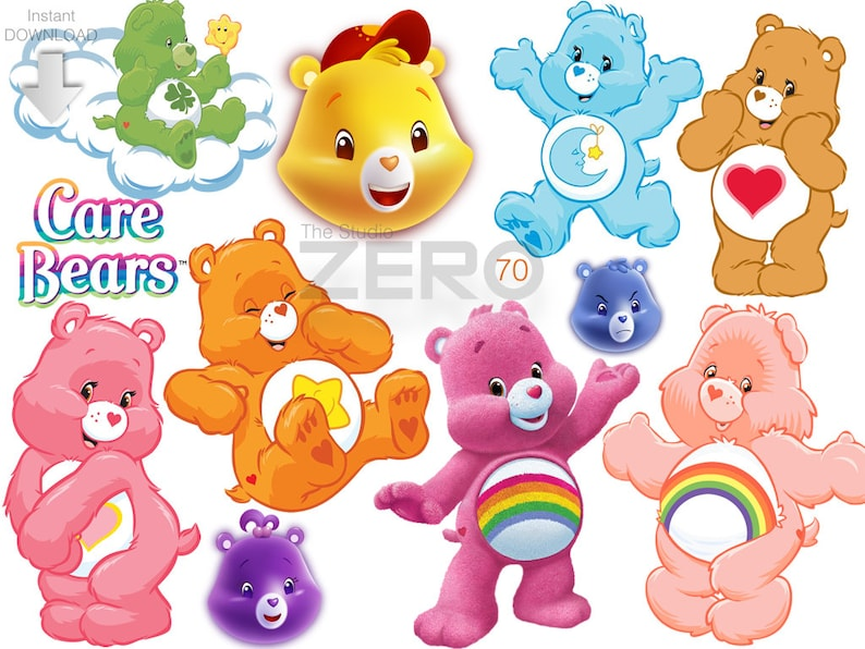 photo regarding Care Bear Belly Badges Printable titled 70 Treatment Bears Clipart, Immediate Obtain 300DPI, Printable Iron Upon Move or Hire as Clip Artwork - Do it yourself Disney, Treatment Bears Clipart