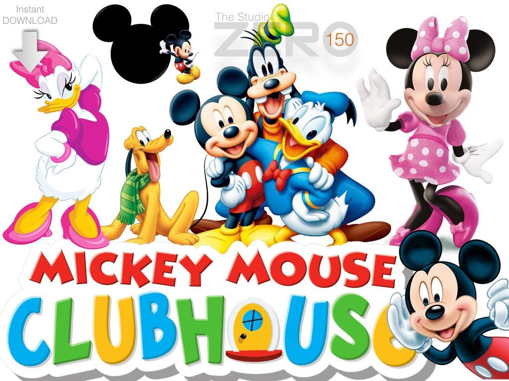 150 Disney Junior, Mickey Mouse Club House Clipart, 300DPI ...