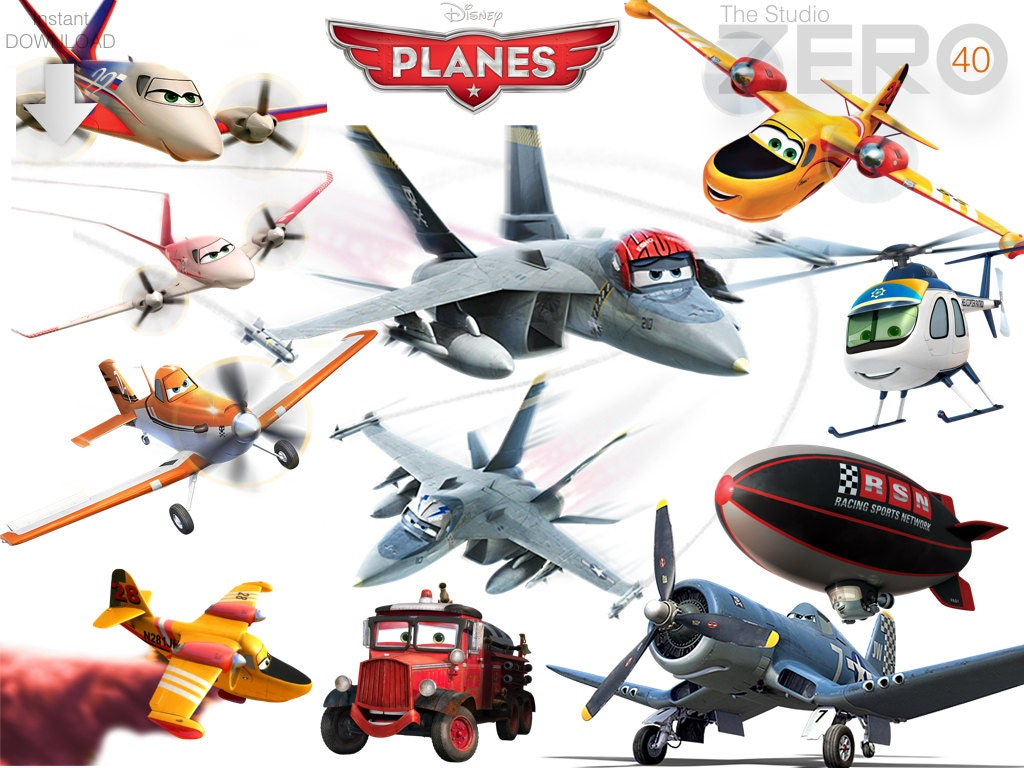 40 Disney Planes Clipart Digital Clipart Instant Download | Etsy