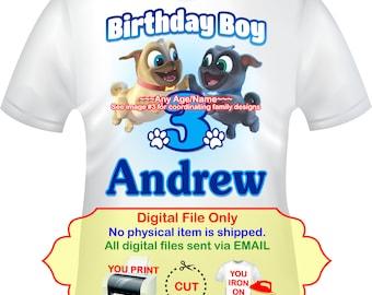 Decoration decorations Design Birthday Puppy Dog Pals Favor T-shirt Iron On Party Custom Disney Digital Instant download Shirt