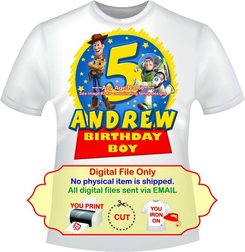 c55c3bc7 Toy Story Birthday Iron On Transfer Personalized DIY Mommy | Etsy