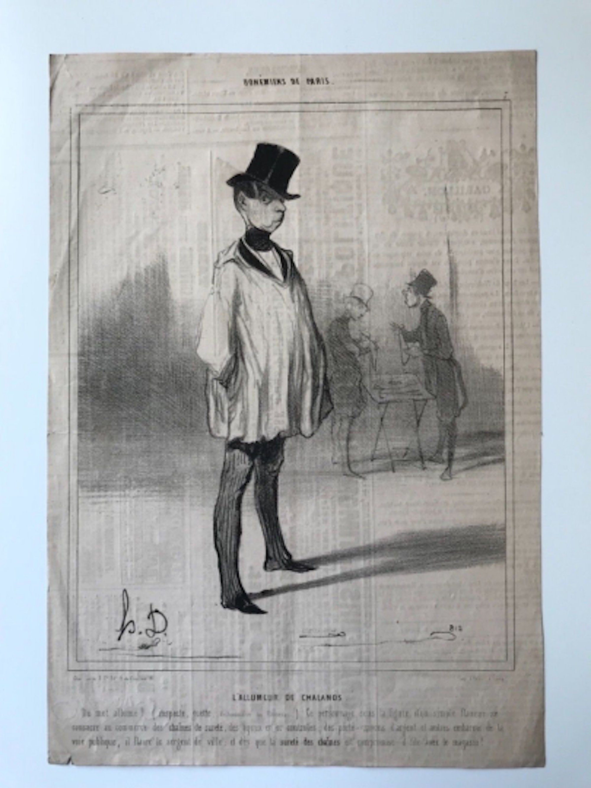 Sold Price: Honore Daumier: Caricature /Satire Lithograph