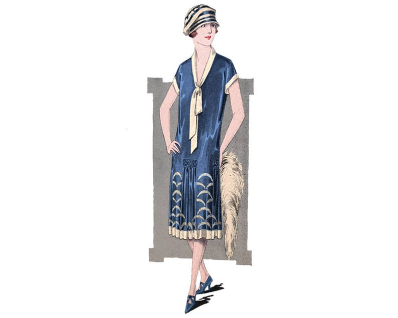 1920s Patterns – Vintage, Reproduction Sewing Patterns An elegant 1920's summer dress printable ready to use pattern $7.78 AT vintagedancer.com
