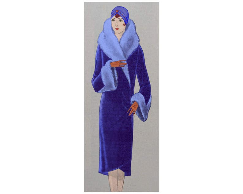 1920s Patterns – Vintage, Reproduction Sewing Patterns An elegant 1920s winter coat ready-made printable pattern $9.01 AT vintagedancer.com