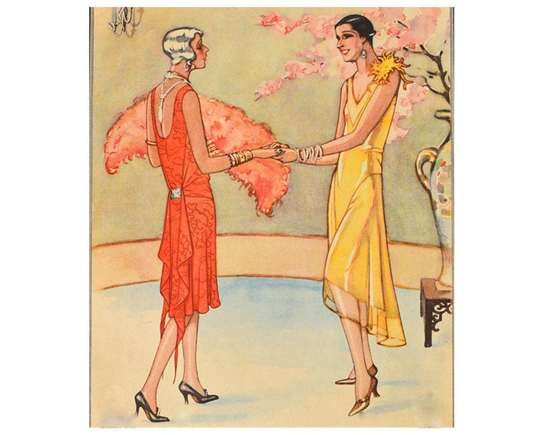 1920s Patterns – Vintage, Reproduction Sewing Patterns Two elegant 1920s evening dresses 2 ready-made printable patterns $8.50 AT vintagedancer.com