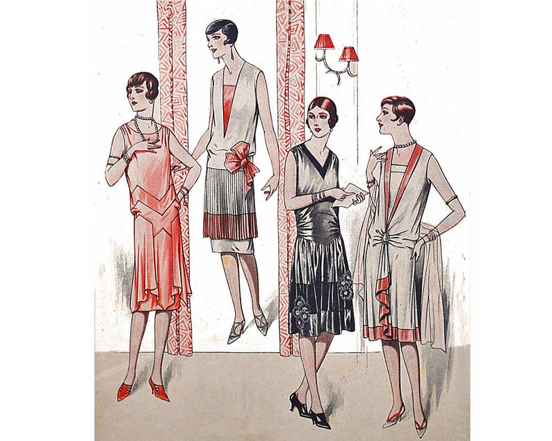 1920s Patterns – Vintage, Reproduction Sewing Patterns 4 ravishing 1920s evening dresses ready-made printable patterns $13.94 AT vintagedancer.com