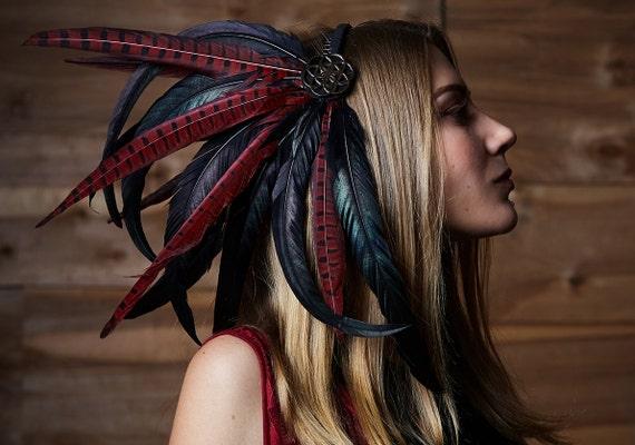 "Feather Headdress ""Dragon's Gift"" Goddess Headdress, Tribal Headpiece by Etsy"
