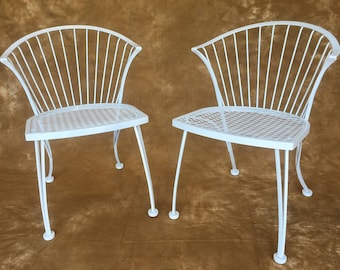 Pair of Woodard Pinecrest wrought iron chairs **** NO FREE SHIPPING**** & Wrought iron chairs | Etsy