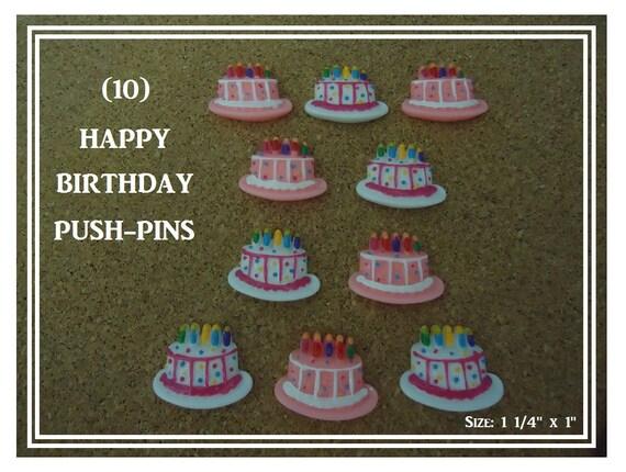 Magnificent Birthday Cake Message Board Push Pins Birthday Cake Thumb Etsy Funny Birthday Cards Online Chimdamsfinfo