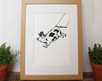 Pig Print (Unframed Print Only) Pig Farm range, Pig Picture, Pig gifts