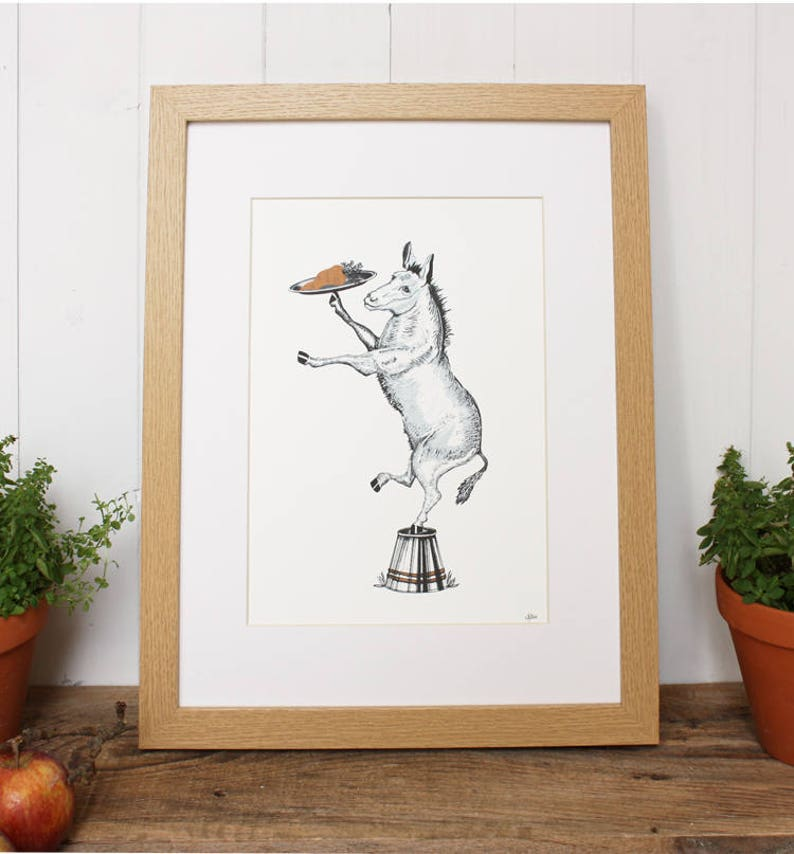 Donkey print unframed Print only donkey gifts donkey art image 0