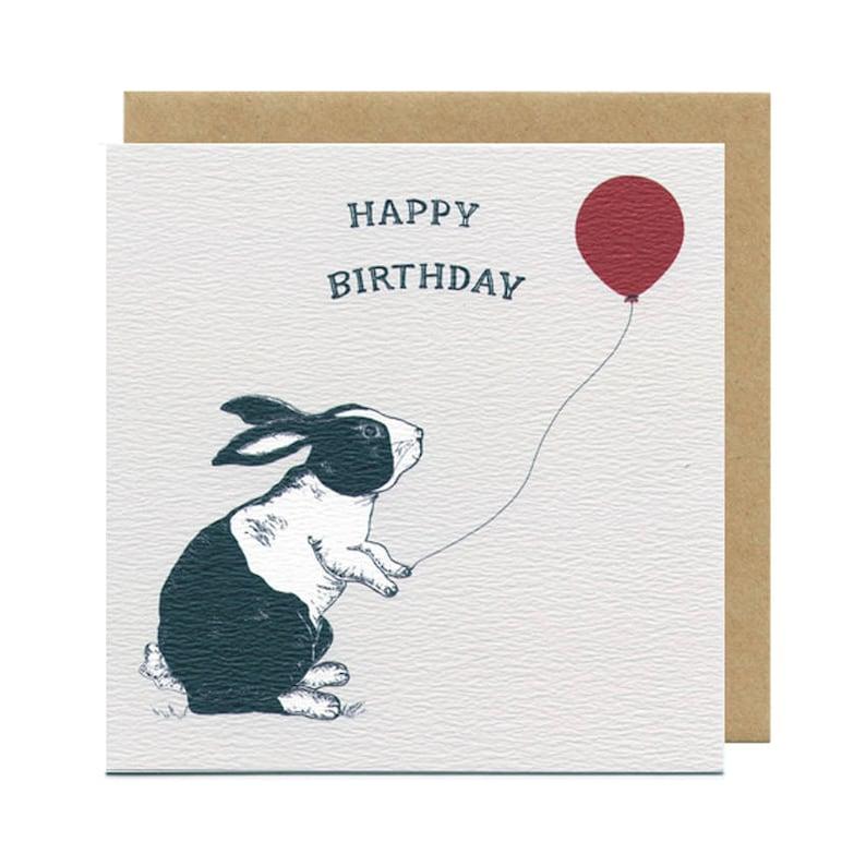 Bunny Birthday Card  Blank Card  Children's Birthday image 0