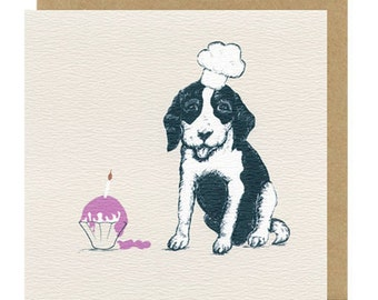 Puppy Greeting Card | Blank Card | Puppy | Birthday Cards | Childrens's birthday cards