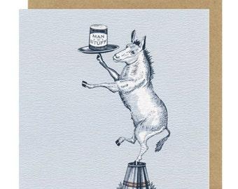 Donkey Birthday Card | Blank Card | Birthday Cards for Boyfriend | Birthday Cards for Men