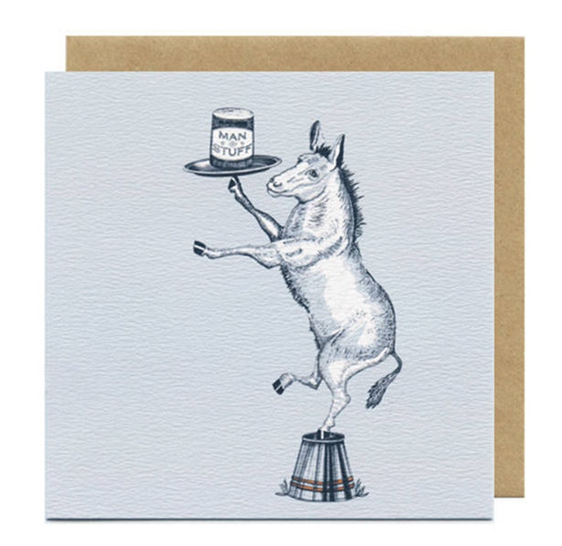 Donkey Birthday Card  Blank Card  Birthday Cards for image 0